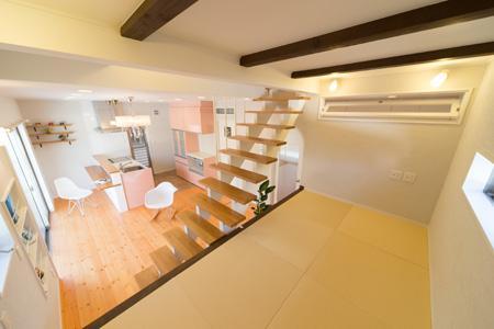 Casa Bonita(かわいい家)の部屋 琉球畳を敷き詰めたロフト