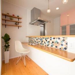 キッチンカウンター (Casa Bonita(かわいい家))