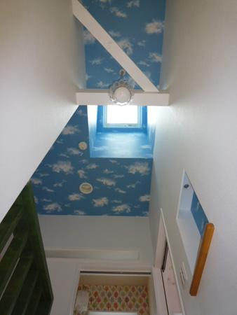 Casa Bonita(かわいい家)の部屋 トップライトのある空柄天井