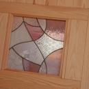cross road HOUSEの写真 ステンドガラスをはめ込んだドア