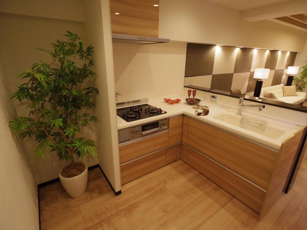 間取り変更に伴うフルリノベーション (キッチン)