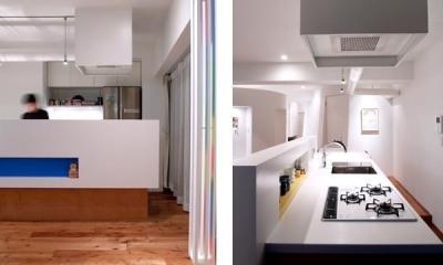 SHAPES—丸・三角・四角の空間を備えた部屋 (キッチン)