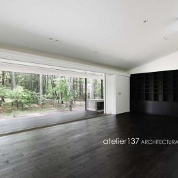 018軽井沢Cさんの家 (リビング)