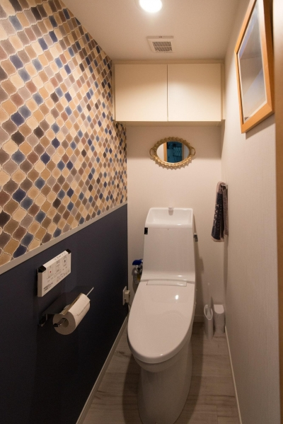 LIGHTリノべ―ション01 ヨーロピアンヴィンテージな空間 (トイレ)