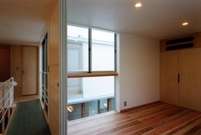 寝室 (2つの中庭のある家)