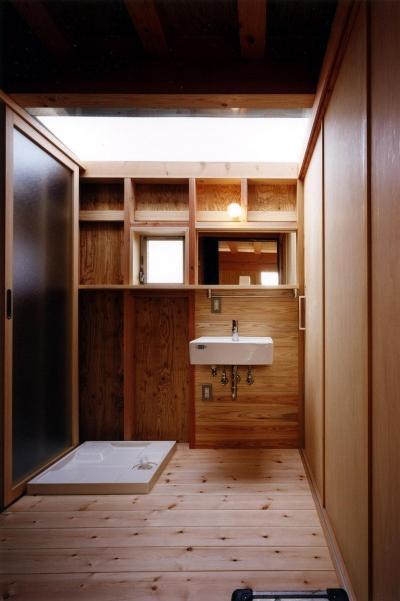 洗面室 (木造スケルトンの家)