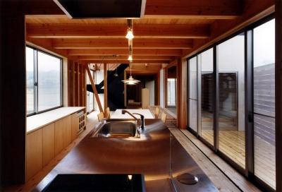 木造スケルトンの家 (ダイニングキッチン)