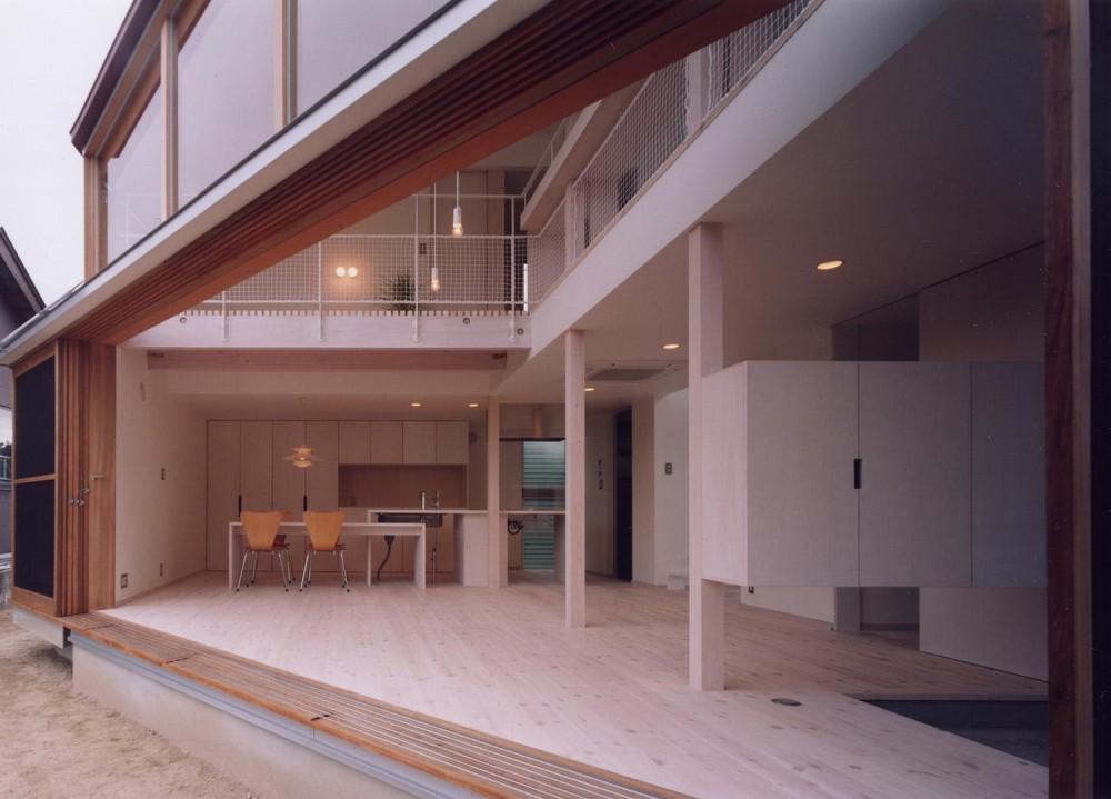 隅切りの家 (庭~LDK)