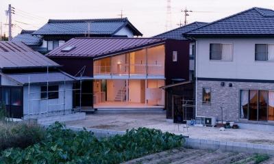 隅切りの家 (外観)
