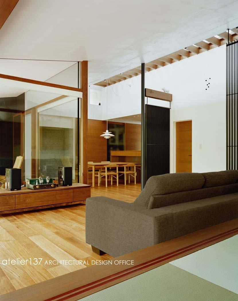 015軽井沢Tさんの家の部屋 リビング