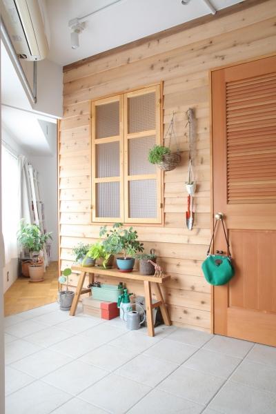 寝室 (U邸—三角の間取りだからできた部屋)