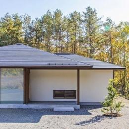 開田高原の家 (景色に程よく馴染むシンプルな外観)