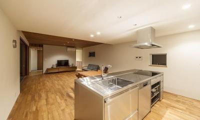 ステンレスのオーダーキッチン|丸川の家