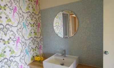 南行徳Y邸マンションリフォーム (遊び心のある洗面室)