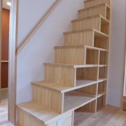 市川市Kさんの家新築工事-箱階段