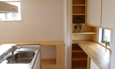 2階キッチン 市川市Kさんの家新築工事