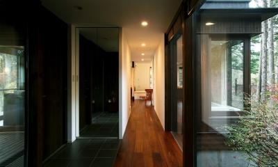 006軽井沢Kさんの家 (玄関廊下)