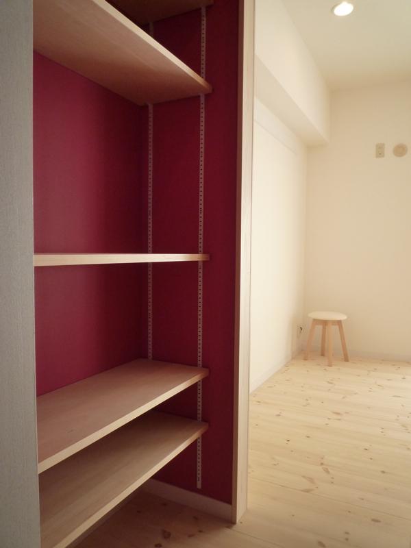 aaa邸リフォームの部屋 収納棚