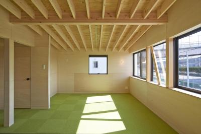 子ども部屋 (『神領の住宅』 〜 操車場を眺める水平連続窓のある家 〜)