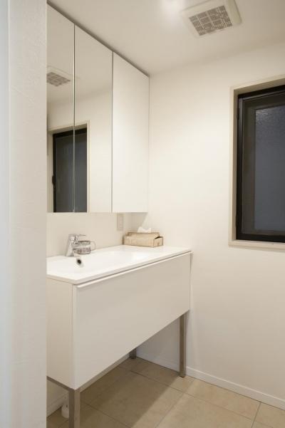 洗面室 (S邸・シンプルで木の温もりを感じるお家)