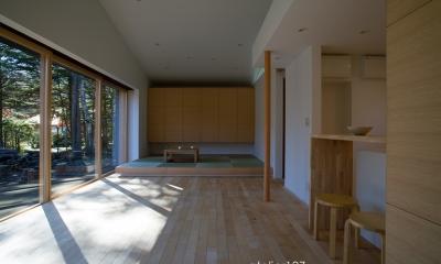 012軽井沢Nさんの家 (リビングダイニング)