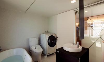 スキップフロアの家Ⅱ (バスルーム)