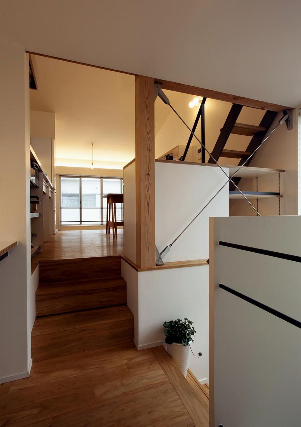スキップフロアの家Ⅱ (廊下)