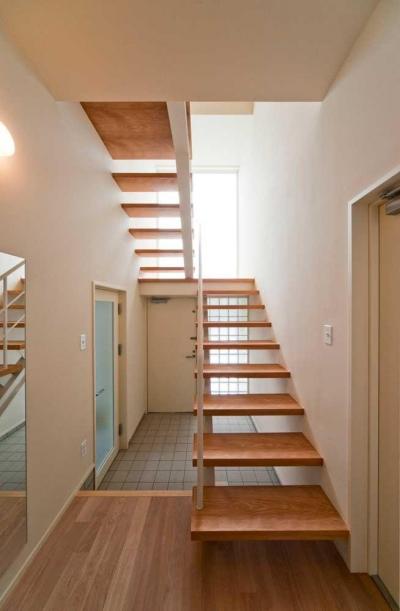 DOUBLE SPIRAL (玄関・オープン階段)
