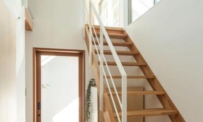 indoor terraceの家 (ブリッジにつながる階段)
