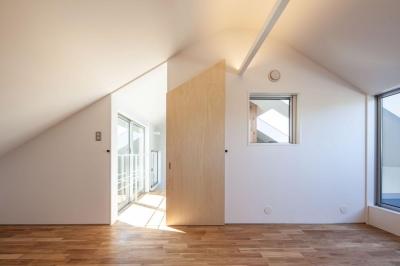 寝室 (indoor terraceの家)