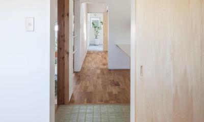 indoor terraceの家 (廊下)