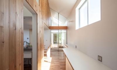 indoor terraceの家 (家事室)