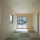 萱方の住宅の写真 琉球畳を敷き詰めた和室