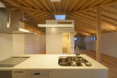 萱方の住宅 (キッチンからの眺め)
