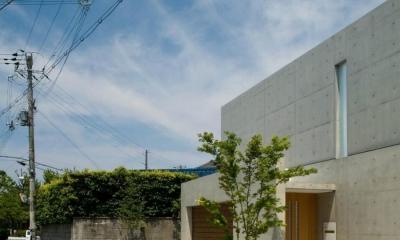 Nさんの住家 (コンクリート打放しの外観)
