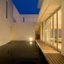 Nさんの住家の写真 池・テラス (夜景)