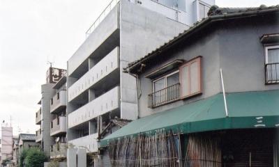 賃貸住居の屋上は中庭のあるオーナーの家|湯里の集合住宅 (外観)