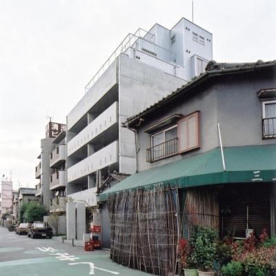 外観 (賃貸住居の屋上は中庭のあるオーナーの家|湯里の集合住宅)