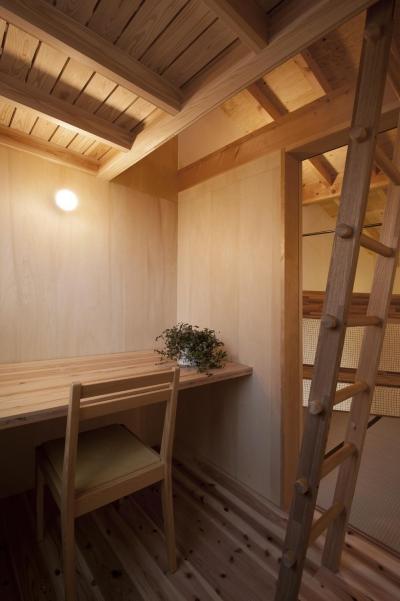 子供部屋 (焼き杉の家)