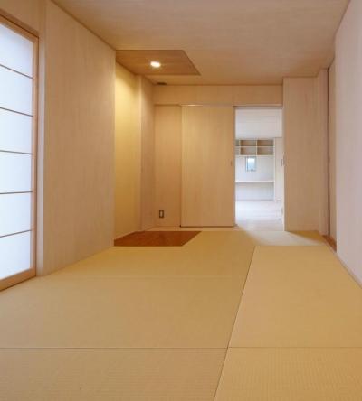 KTさんの住家 (琉球畳を敷き詰めた和室)