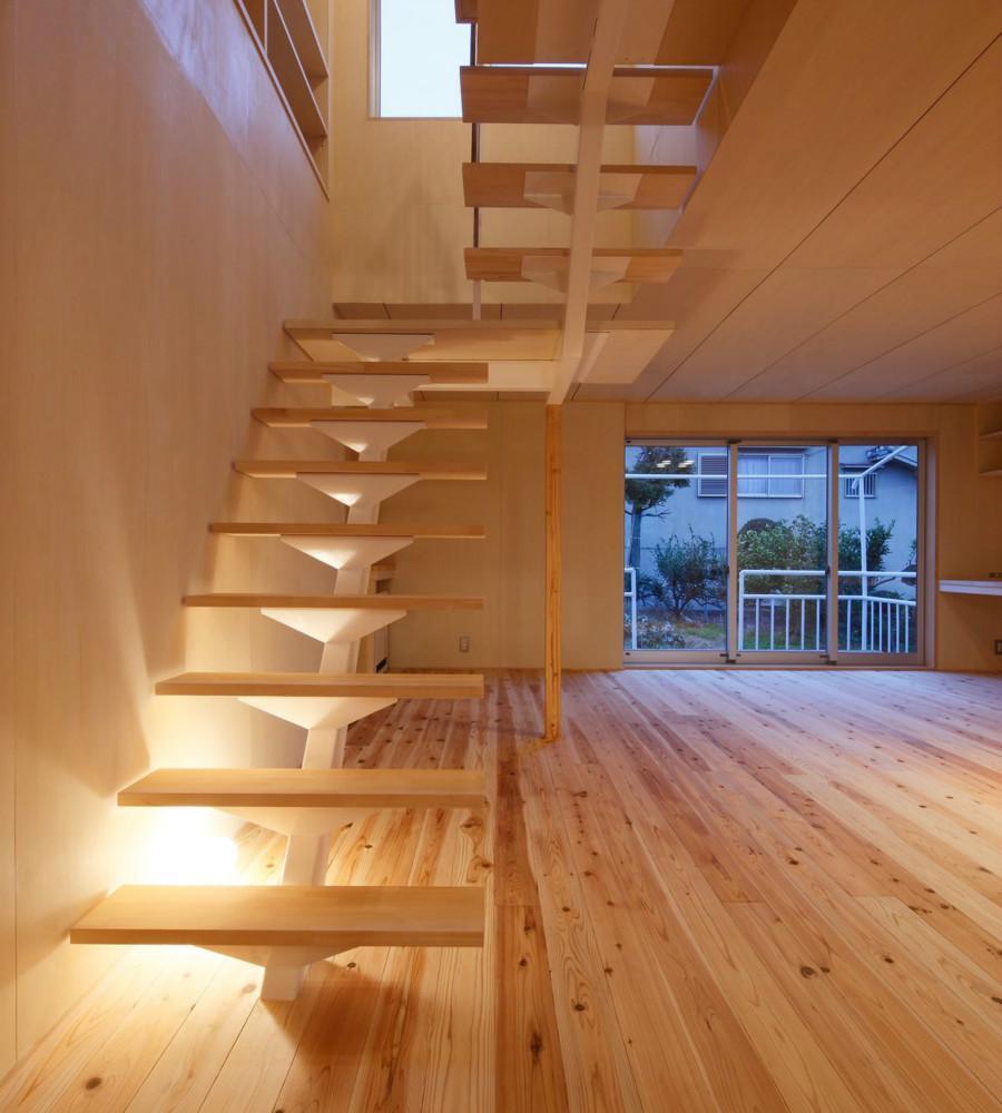 KTさんの住家の部屋 オープン型階段