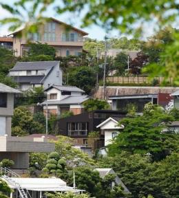 目神山の住家 (遠方から見た外観)