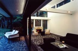 軽井沢の家3 (リビングとテラス)