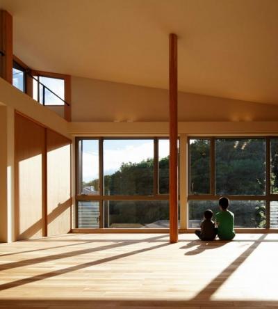 目神山の住家 (勾配天井のLDK)