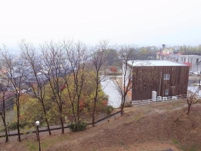 外観02 並木道とキューブ (爽やかな風が通り抜ける家|9mの大開口の家)