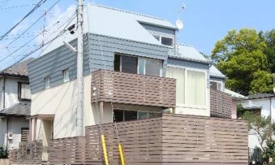 三角角地の家