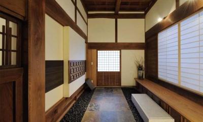土間玄関|奈良宝来の家