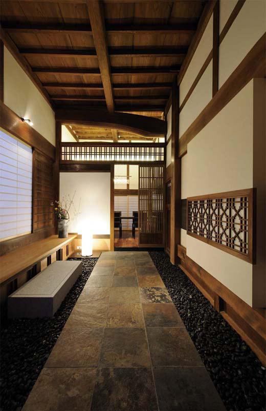 奈良宝来の家の写真 土間玄関
