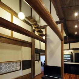 奈良宝来の家 (リビング)
