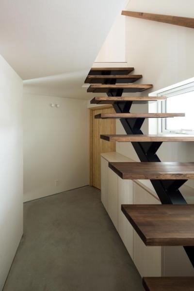 手稲山が望める家 (階段)